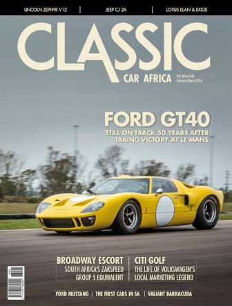 February - March 2016 Publication | Classic Car Africa