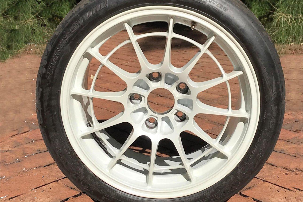 Set of Japanese Enkei wheels