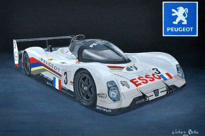 1993 Le Mans winning Peugeot Evo 905 painting