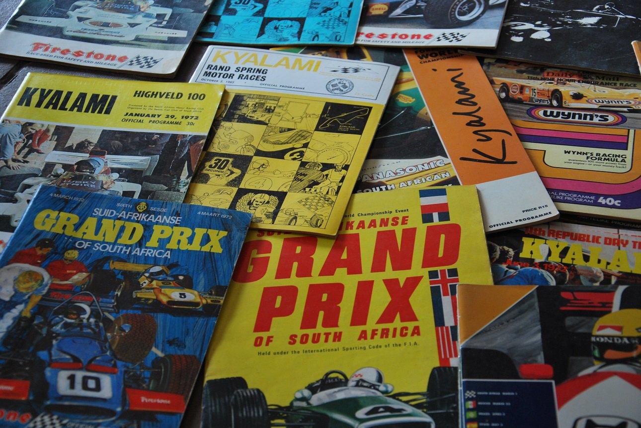 Set of 172 SA motorsport programmes