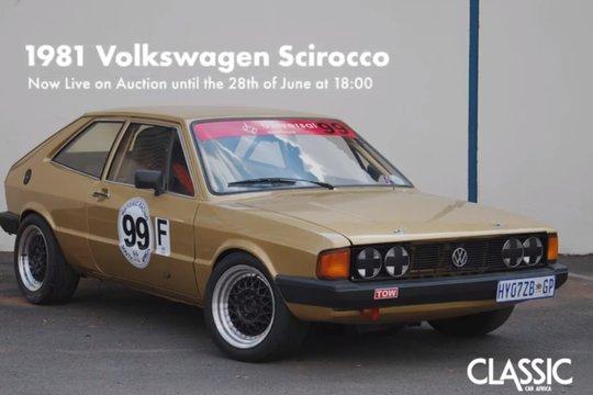 For Sale: 1981 Volkswagen Scirocco road & track car