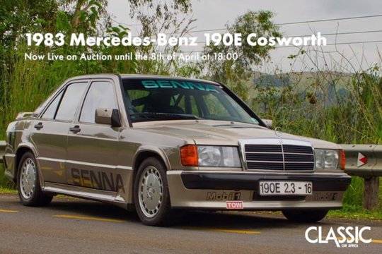 LIVE ONLINE AUCTION: 1983 Mercedes-Benz 190E 2.3-16 Cosworth