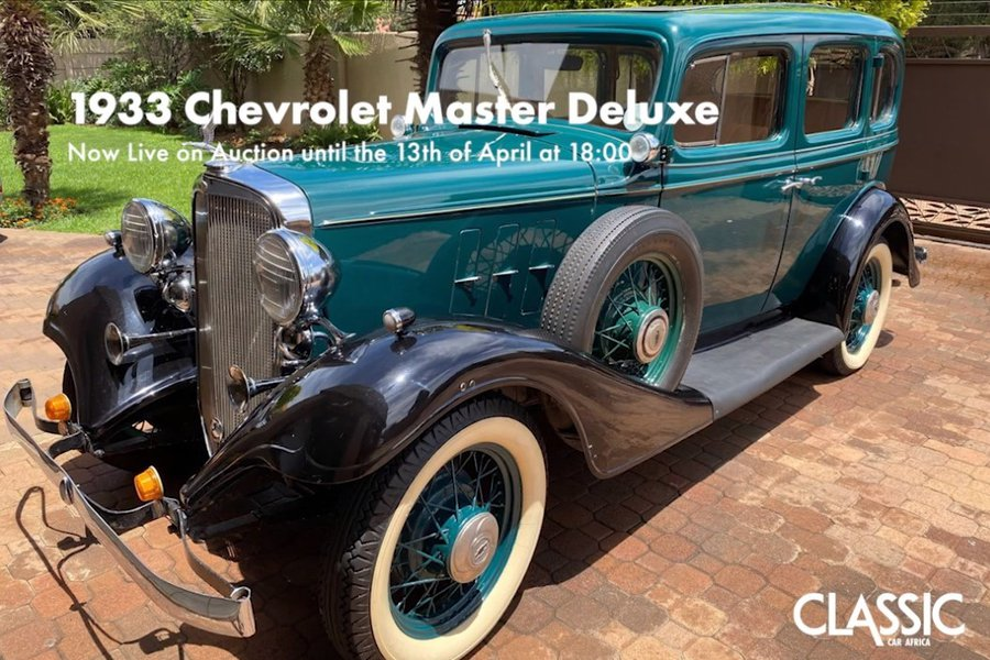 Live Online Auction: 1933 Chevrolet Master Deluxe