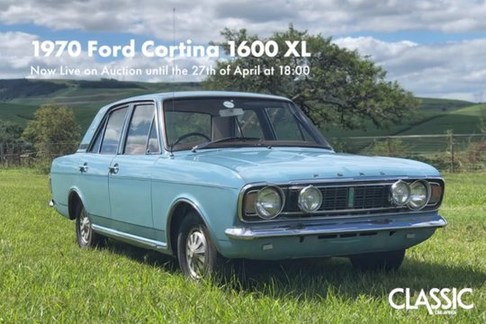 Live Online Auction: 1970 Ford Cortina 1600XL
