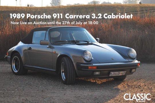 LIVE ONLINE AUCTION: 1989 Porsche 911 Carrera 3.2 Carbiolet